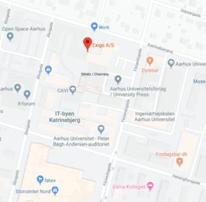 Google Maps - Hvor ligger Exigos Aarhus-kontor?